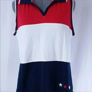 Patriotic sleeveless top